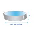 Intex 26310 ex 28310 Ultra Frame Aufstellpool rund Quick up 427x107cm - interno